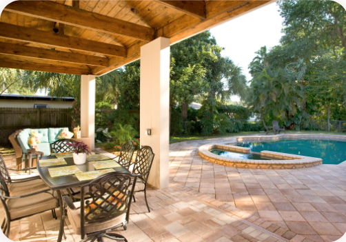a pool side lanai for exterior remodeling in Clearwater, FL